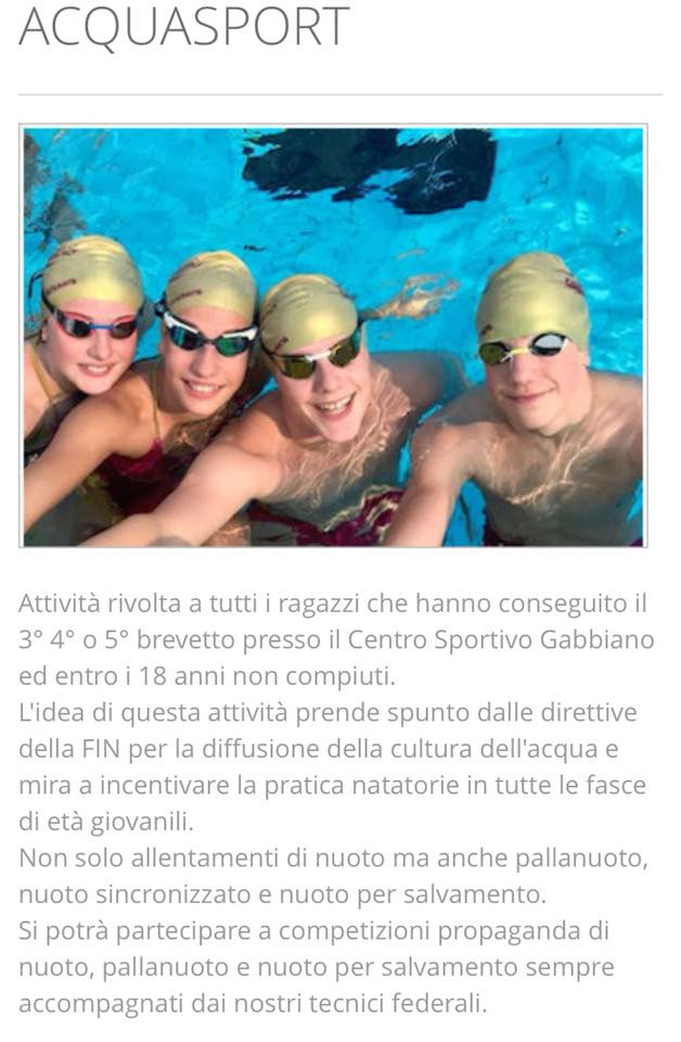 acquasport gabbiano news